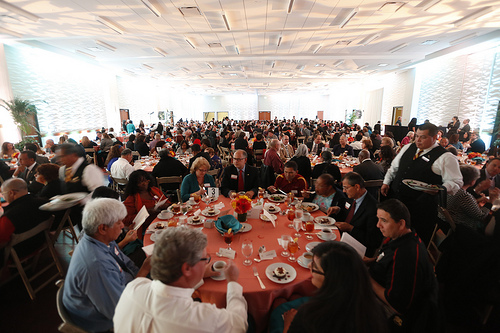 Hundreds of staff members are honored at the Staff Recognition Luncheon each year. This event is also where the President's Award for Staff Achievement is presented.