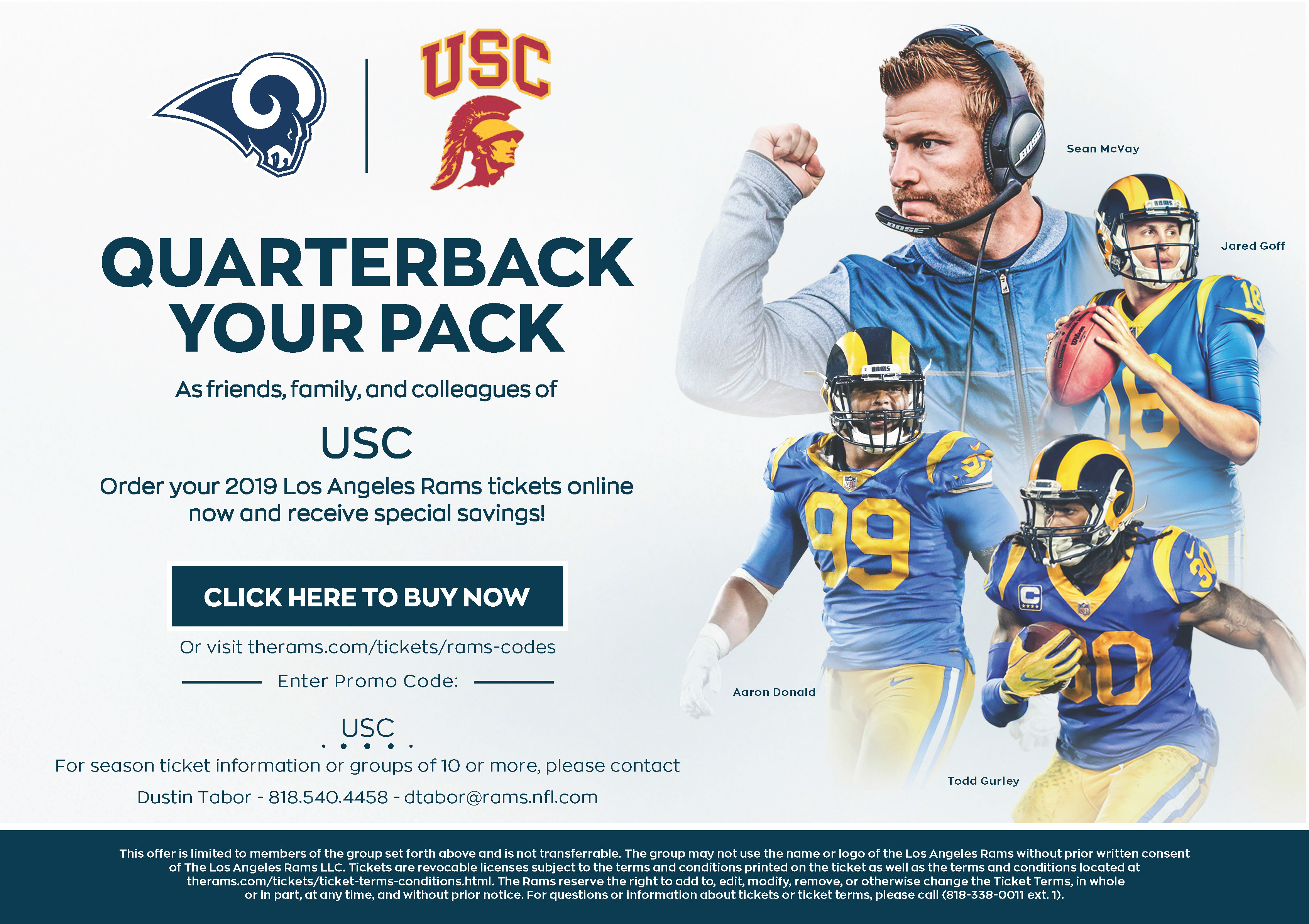 Discounted Rams Tickets For The Trojan Family Usc Employee